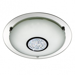 LED flush light polished chrome large
