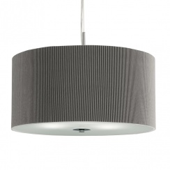 Drum pleated shade silver grey large