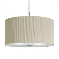 Drum pleated shade cream large
