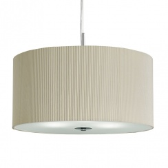 Drum pleated shade silver cream