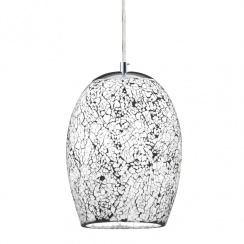 Crackled white pendant