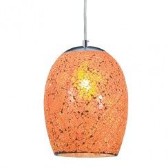 Crackled orange pendant