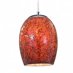 Crackled red pendant
