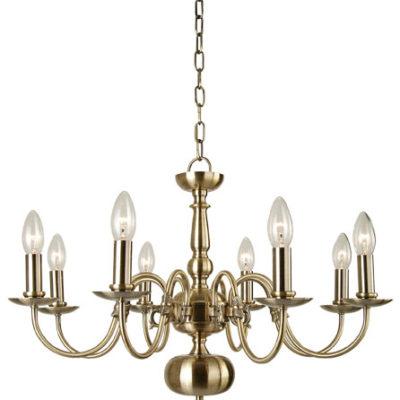 The flemish 8 light antique brass
