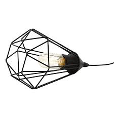 Tarbes black table lamp