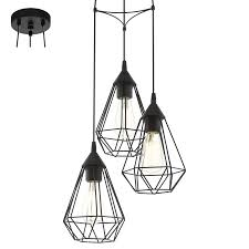 Tarbes black 3 light fitting