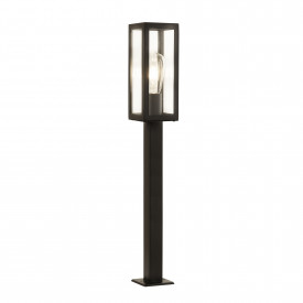 1 Light Rectangle Head Post (90cm Height) Rectangle Head Post, Black, Outdoor