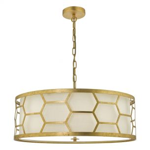 Epstein Gold and Ivory 4 light  Pendant
