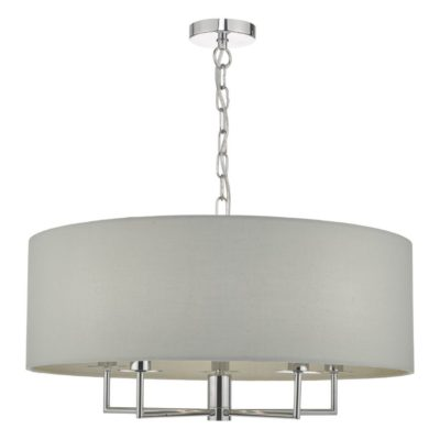 Jamelia 5 light Polished Chrome Pendant