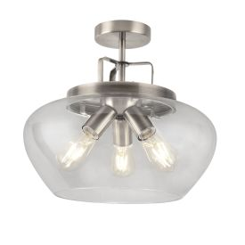 Boule 3 Light Semi Flush