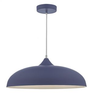 Kaelan 1 Light Pendant Matt Blue
